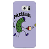Funny Pickle Playing Pickleball Cartoon Phone Case
