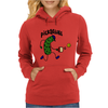 Funny Pickle Playing Pickleball Cartoon Womens Hoodie