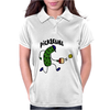 Funny Pickle Playing Pickleball Cartoon Womens Polo