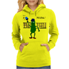 Funny Pickle Playing Pickleball with Paddle and Net Art Womens Hoodie