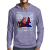 Funny Pink Pig Flying in Biplane Mens Hoodie