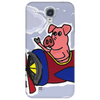 Funny Pink Pig Flying in Biplane Phone Case