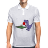 Funny Purple T-Rex Dinosaur Playing Table Tennis Mens Polo