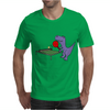 Funny Purple T-Rex Dinosaur Playing Table Tennis Mens T-Shirt