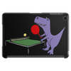 Funny Purple T-Rex Dinosaur Playing Table Tennis Tablet