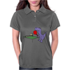 Funny Purple T-Rex Dinosaur Playing Table Tennis Womens Polo