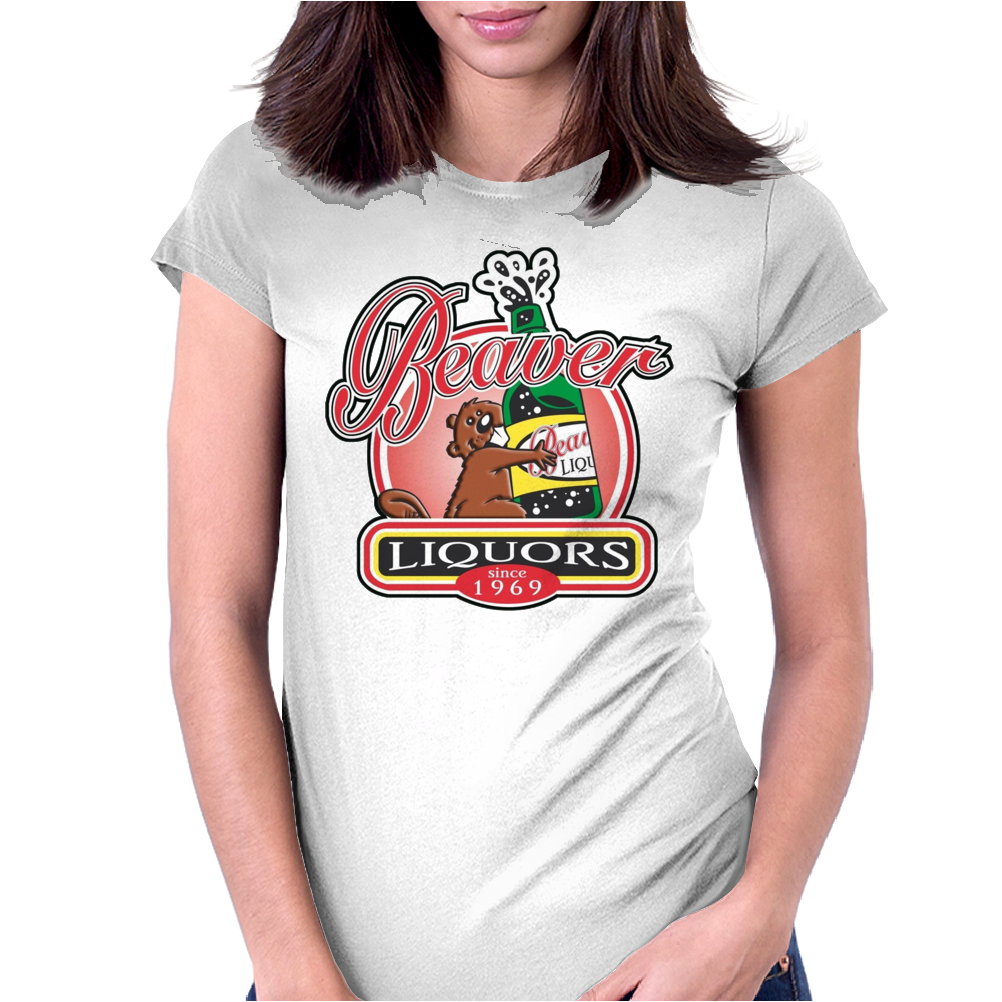 Funny Rude  Beaver Liquors, Ideal Gift Or Birthday Present. Womens Fitted T-Shirt