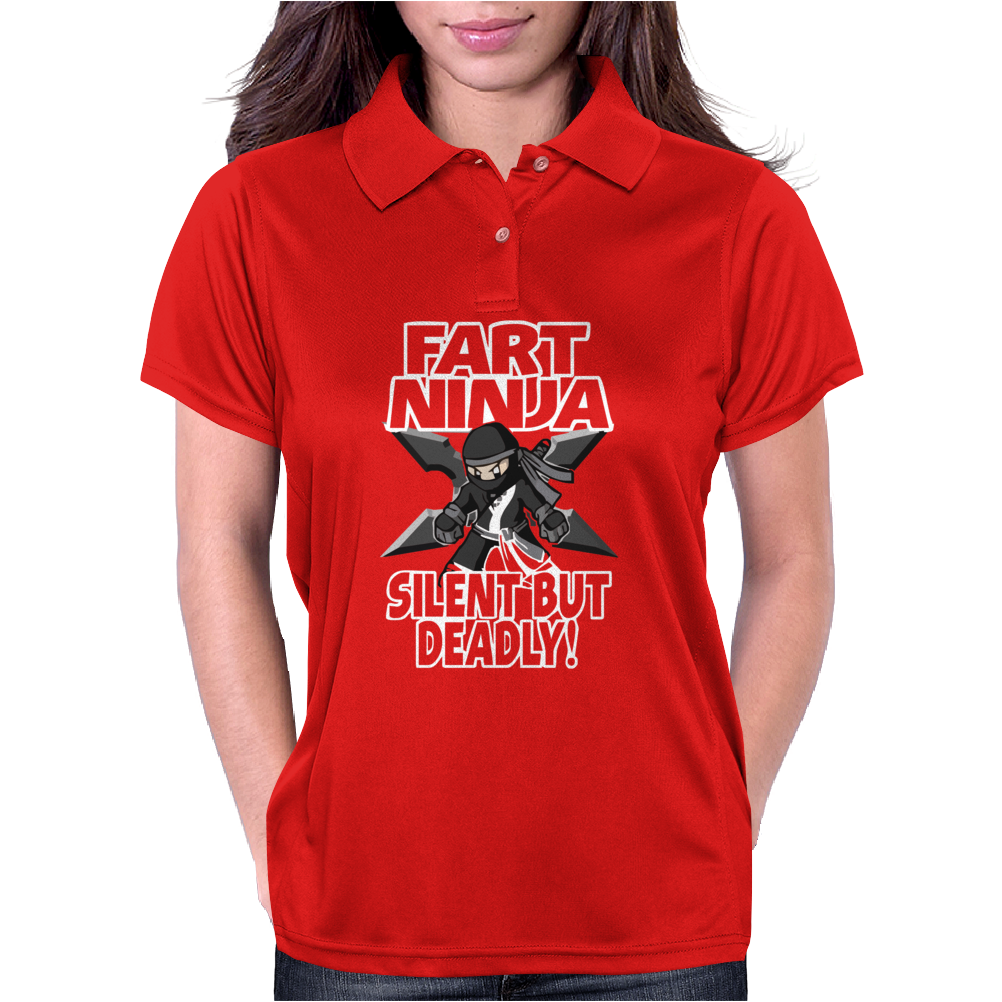 Funny Rude Fart Ninja Ideal Birthday Gift or Present Womens Polo