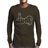 Funny Rude Fingers Ideal Birthday Gift or Present Mens Long Sleeve T-Shirt