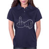 Funny Rude Fingers Ideal Birthday Gift or Present Womens Polo
