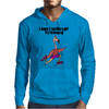 Funny Running Pink Flamingo Cartoon Mens Hoodie