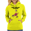 Funny Running Pink Flamingo Cartoon Womens Hoodie