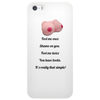 FUNNY SATIRE HUMOUROUS FOOL ME ONCE SHAME ON YOU FOOL ME TWICE YOU HAVE BOOBS IT'S REALLY THAT SIMPL Phone Case