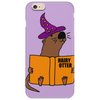 Funny Sea Otter Reading a Book called Hairy Otter Phone Case