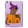 Funny Sea Otter Reading a Book called Hairy Otter Tablet