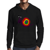 Funny Silly Rainbow Colored Snail Original Art Mens Hoodie