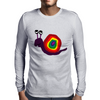 Funny Silly Rainbow Colored Snail Original Art Mens Long Sleeve T-Shirt
