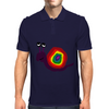 Funny Silly Rainbow Colored Snail Original Art Mens Polo