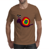 Funny Silly Rainbow Colored Snail Original Art Mens T-Shirt