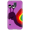 Funny Silly Rainbow Colored Snail Original Art Phone Case
