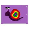 Funny Silly Rainbow Colored Snail Original Art Tablet (horizontal)