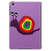 Funny Silly Rainbow Colored Snail Original Art Tablet (vertical)