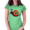 Funny Silly Rainbow Colored Snail Original Art Womens Fitted T-Shirt