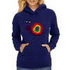 Funny Silly Rainbow Colored Snail Original Art Womens Hoodie