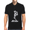 Funny Skeleton Prayer Mens Polo