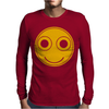 Funny Smiley Face Mens Long Sleeve T-Shirt
