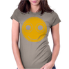 Funny Smiley Face Womens Fitted T-Shirt