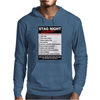 Funny Stag Night Checklist, Ideal Gift, Christmas Present Mens Hoodie
