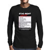 Funny Stag Night Checklist, Ideal Gift, Christmas Present Mens Long Sleeve T-Shirt
