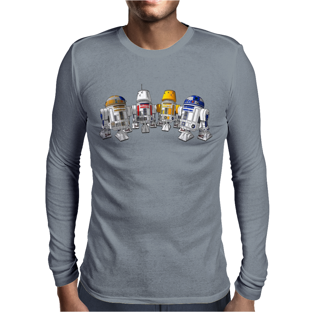 funny Star Wars Droids Ideal Birthday Present or Gift Mens Long Sleeve T-Shirt