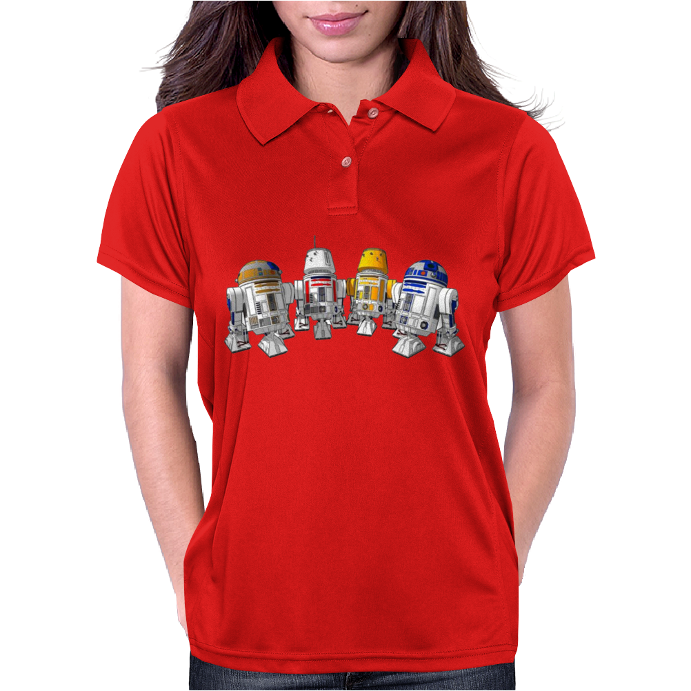 funny Star Wars Droids Ideal Birthday Present or Gift Womens Polo