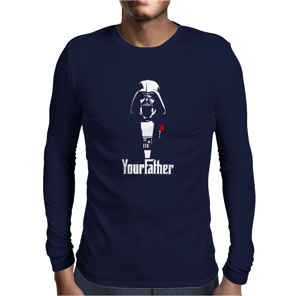 Funny Stars Wars Godfather Parody Yourfather Mens Mens Long Sleeve T-Shirt