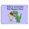 Funny T-Rex Dinosaur Eating Ice Cream Sundae Cartoon Tablet
