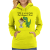 Funny T-Rex Dinosaur Eating Ice Cream Sundae Cartoon Womens Hoodie