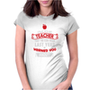 Funny Teacher Womens Fitted T-Shirt