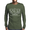 FUNNY TECH SUPPOR Mens Long Sleeve T-Shirt