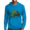 Funny Tyrannosaurus Rex is Playing the Piano Mens Hoodie