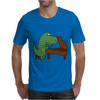 Funny Tyrannosaurus Rex is Playing the Piano Mens T-Shirt