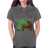 Funny Tyrannosaurus Rex is Playing the Piano Womens Polo