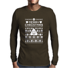 Funny Ugly Christmas Smiley Emoticon Mens Long Sleeve T-Shirt