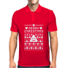 Funny Ugly Christmas Smiley Emoticon Mens Polo
