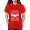 Funny Ugly Christmas Smiley Emoticon Womens Polo