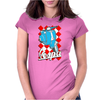 Funny vespa Chequer Board, Ideal Gift Or Birthday Present Womens Fitted T-Shirt