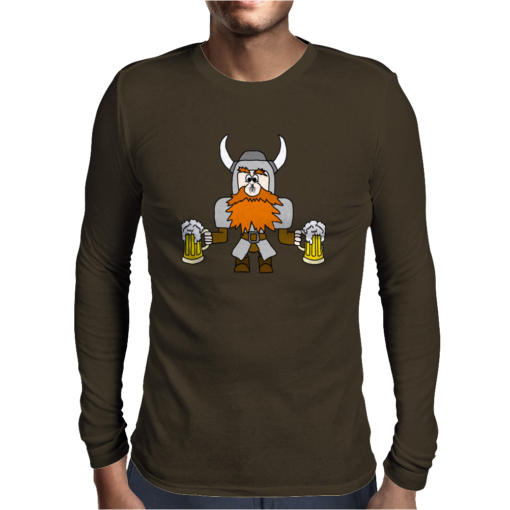 Funny Viking Mens Long Sleeve T-Shirt
