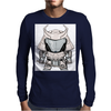 Galactic Samurai Warrior Mens Long Sleeve T-Shirt