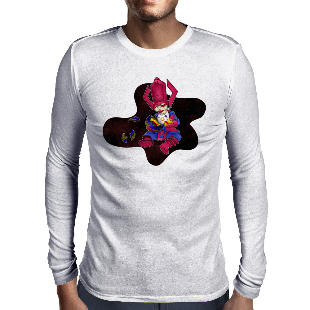 Galactus, eat your crusts! Mens Long Sleeve T-Shirt